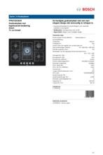 Product informatie BOSCH gaskookplaat PPQ716C91N