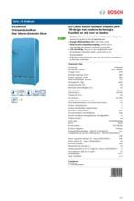 Product informatie BOSCH koelkast blauw KSL20AU30