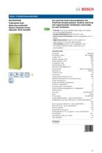 Product informatie BOSCH koelkast groen KGV36VH32S