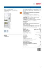 Product informatie BOSCH koelkast inbouw KIN86NFF0
