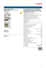 Product informatie BOSCH koelkast inbouw KIN86VFE0