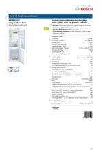Product informatie BOSCH koelkast inbouw KIV34V21FF