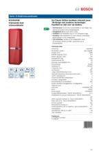 Product informatie BOSCH koelkast rood KCE40AR40