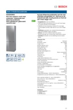 Product informatie BOSCH koelkast rvs-glas KGN36SM30