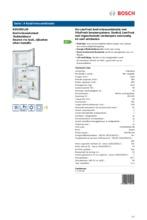 Product informatie BOSCH koelkast rvs-look KDV29VL30