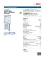 Product informatie BOSCH koelkast rvs-look KGN36VL31