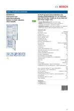 Product informatie BOSCH koelkast rvs-look KGN39VL31