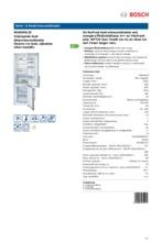 Product informatie BOSCH koelkast rvs-look KGN39XL32