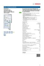Product informatie BOSCH koelkast rvs-look KGV33VL31