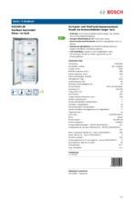 Product informatie BOSCH koelkast rvs-look KSV29VL30