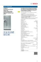 Product informatie BOSCH koelkast rvs KAN58A75