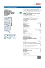 Product informatie BOSCH koelkast rvs KGE36EI43