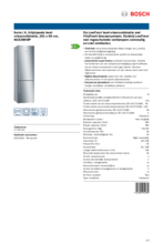 Product informatie BOSCH koelkast rvs KGE398IBP