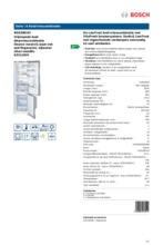 Product informatie BOSCH koelkast rvs KGE39EI43