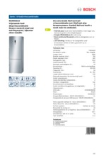 Product informatie BOSCH koelkast rvs KGN49AI22
