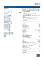 Product informatie BOSCH koelkast rvs KGV36EL30