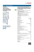 Product informatie BOSCH koelkast rvs KGV36VI32