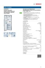 Product informatie BOSCH koelkast rvs KSF36PI30