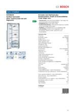 Product informatie BOSCH koelkast rvs KSV36AI41