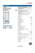 Product informatie BOSCH koelkast rvs KSW36PI30