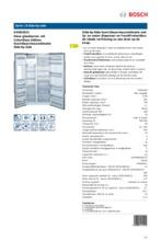 Product informatie BOSCH koelkast side-by-side wit KAD62S21