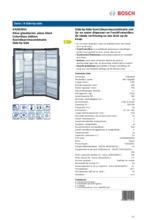 Product informatie BOSCH koelkast side-by-side zwart KAD62S51