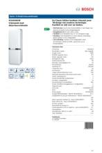 Product informatie BOSCH koelkast wit KCE40AW40