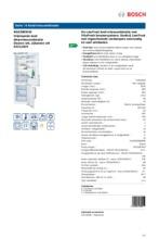 Product informatie BOSCH koelkast wit KGE39EW43