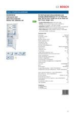 Product informatie BOSCH koelkast wit KGN39XW32