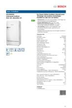 Product informatie BOSCH koelkast wit KSL20AW30