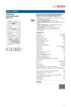 Product informatie BOSCH koelkast wit KSV29VW30