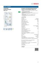 Product informatie BOSCH koelkast wit KSV29VW40