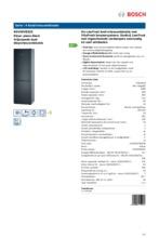 Product informatie BOSCH koelkast zwart KGV36VB32S
