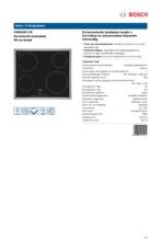 Product informatie BOSCH kookplaat keramisch PKE645F17E