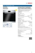 Product informatie BOSCH oven inbouw HBA23B150E