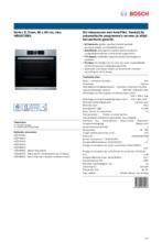 Product informatie BOSCH oven inbouw HBG6730S1