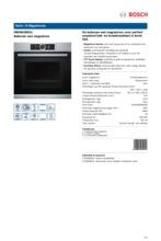 Product informatie BOSCH oven met magnetron HMG636NS1