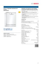 Product informatie BOSCH vaatwasser SGS2ITW11E