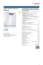 Product informatie BOSCH vaatwasser SGS4HAW48E