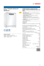 Product informatie BOSCH vaatwasser SGS4HVW31E