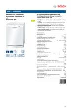 Product informatie BOSCH vaatwasser SMS50D22EU