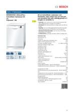 Product informatie BOSCH vaatwasser SMS50D42EU