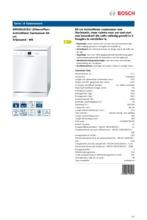 Product informatie BOSCH vaatwasser SMS50L02EU