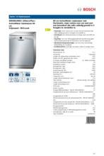 Product informatie BOSCH vaatwasser SMS50L08EU