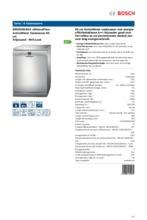 Product informatie BOSCH vaatwasser SMS53N18EU