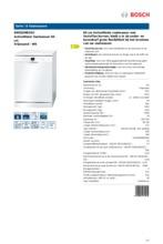 Product informatie BOSCH vaatwasser SMS53N82EU