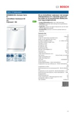 Product informatie BOSCH vaatwasser SMS86M12EU