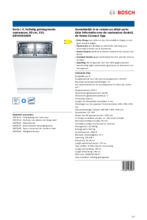 Product informatie BOSCH vaatwasser inbouw SBV4HAX40N