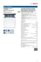 Product informatie BOSCH vaatwasser inbouw SBV86M50EU