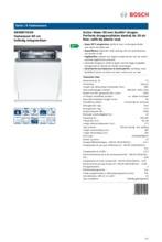 Product informatie BOSCH vaatwasser inbouw SBV88TX01N